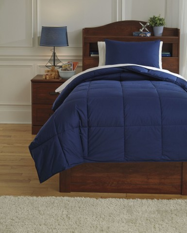 Plainfield Navy Twin Comforter Set