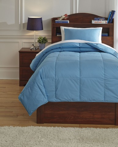 Plainfield Aqua Full Comforter Set