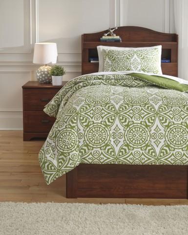 Ina Green Twin Comforter Set