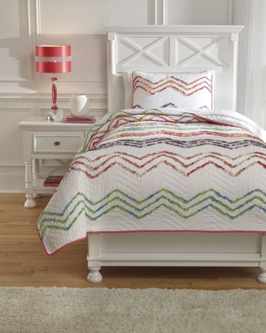 Lacentera Multi Twin Quilt Set