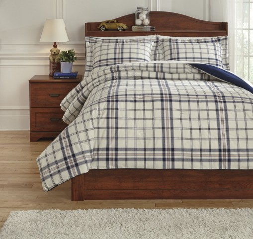 Derick Plaid Full Comforter Set