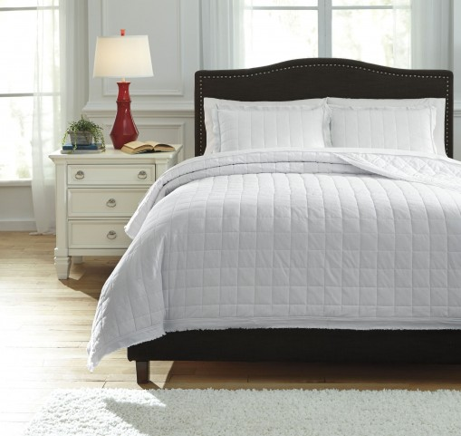 Amare White Queen Coverlet Set