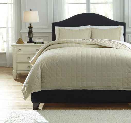 Amare Sand Queen Coverlet Set