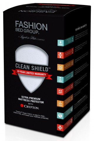 Clean Shield White Cal. King Mattress Protector