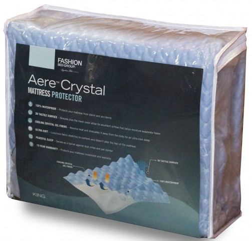 Aere Blue Full Mattress Protector