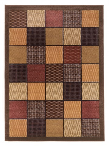 "Patchwork Brown Rug 5' 2"" x 7' 2"""