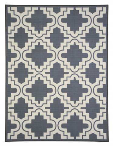Jacory Gray/White Medium Rug