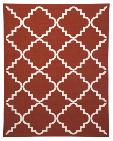 Bandele Orange/White Medium Rug