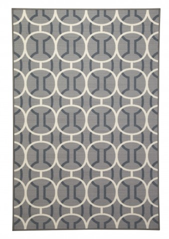 Abigail Gray/White Medium Rug