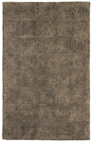 Kanan Taupe and Black Medium Rug