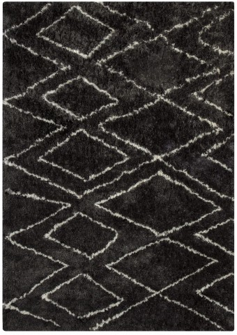 Deryn Black and White Medium Rug