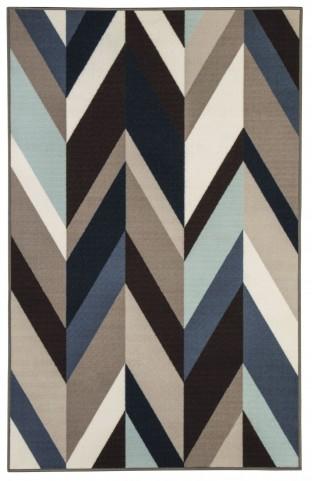 Keelia Medium Blue and Brown Rug