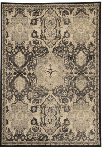Anzhell Black Large Rug