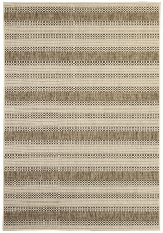 Makai Beige and Brown Medium Rug