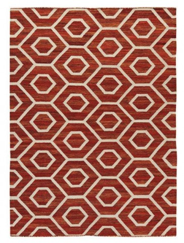 Flatweave Burnt Orange Medium Rug