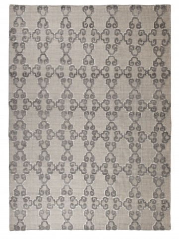 Patterned Gray/Ivory Medium Rug