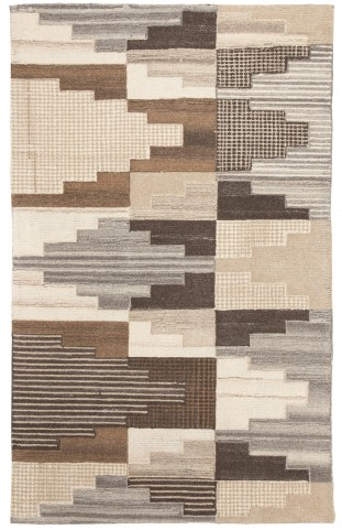 Watnick Brown and Gray Large Rug
