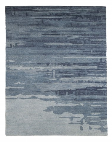 Patterned Blue/Gray Medium Rug