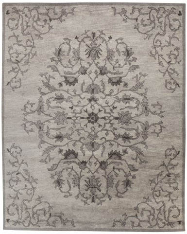 Woven Gray Medium Traditional Rug