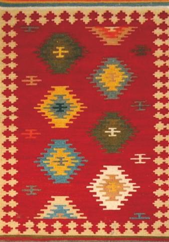 Raja New Mexico Wool Dhurry Large Rug