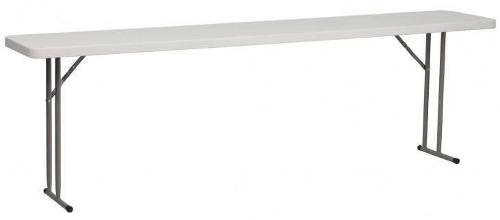 "96"" Granite White Plastic Folding Training Table"