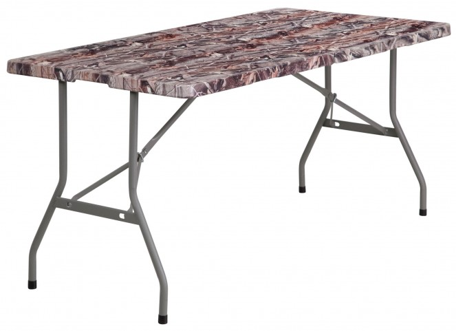"30"" Bi-Fold Camouflage Plastic Folding Table"