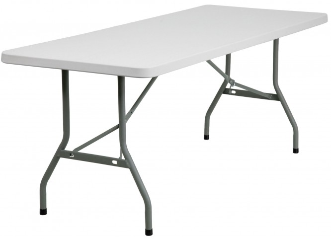"30"" Granite White Plastic Folding Table"