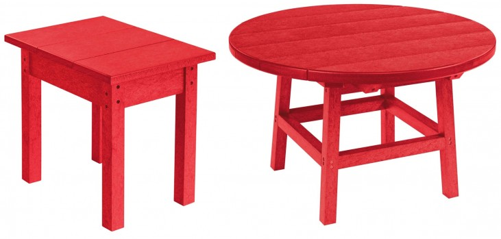 "Generations Red 32"" Round Occasional Table Set"