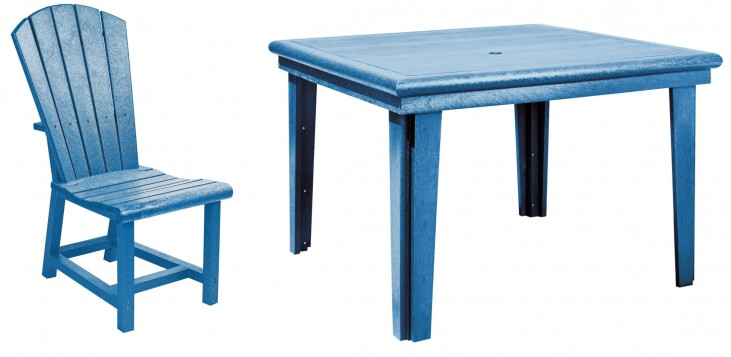 "Generations Blue 46"" Square Dining Room Set"