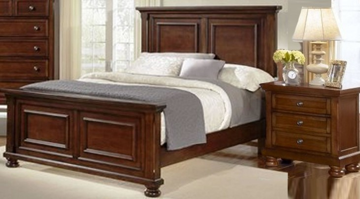 Reflections Medium Cherry Youth Mansion Bedroom Set
