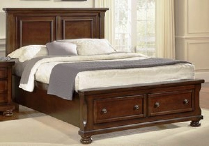 Reflections Medium Cherry Mansion Storage Bedroom Set