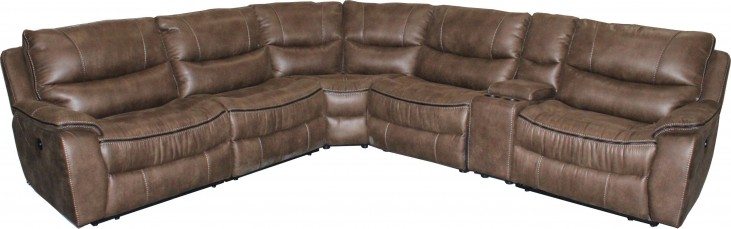 Remus Mocha Power Reclining Sectional