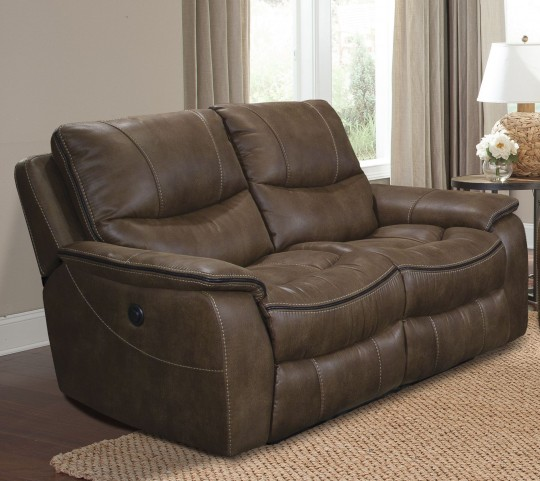 Remus Stone Dual Power Reclining Loveseat