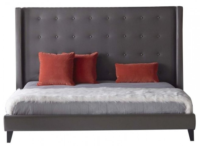Basix Rialto Pebble Bonded Leather Cal. King Platform Bed