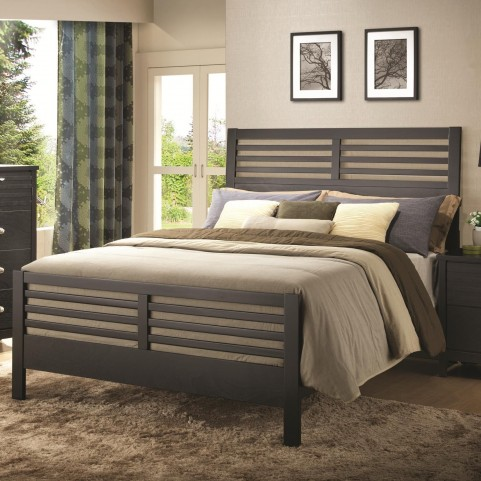 Richmond Black Queen Slat Panel Bed
