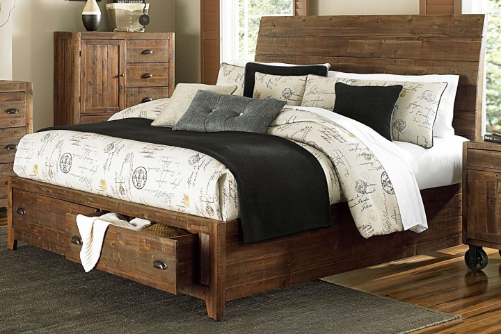 River Ridge Queen Island Storage Bed