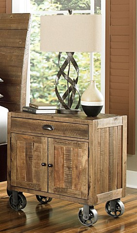 River Ridge Door Nightstand With Casters