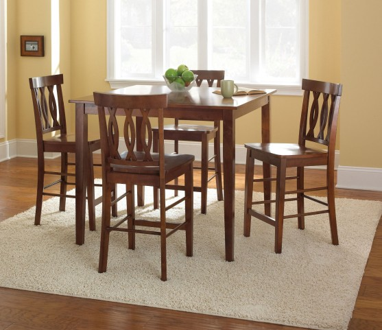 Richmond Fruitwood 5 Piece Counter Height Dining Set