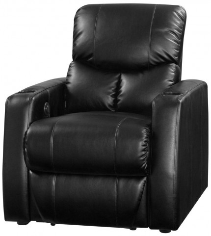Applause Black Bonded Leather 2 Arm Recliner