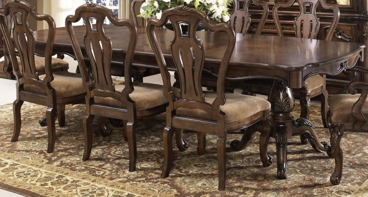 Rochelle Chestnut Extendable Rectangular Leg Dining Table