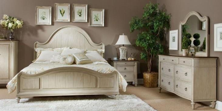 Rocky Point Beechnut and Clay Bedroom Set