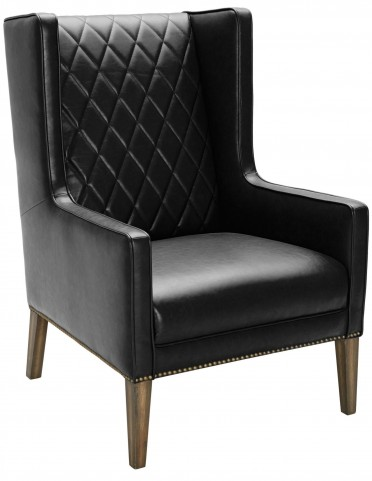 Roma Black Fog Leather Armchair