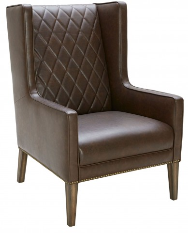 Roma Chestnut Brown Leather Armchair