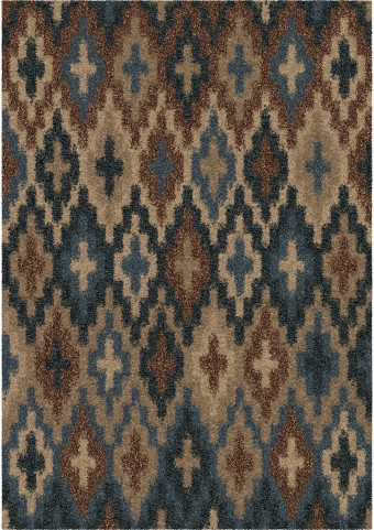 Orian Rugs Plush Abstract Lorcan Blue Area Large Rug