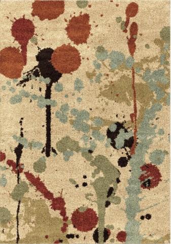 Orian Rugs Plush Abstract Funfetti Multi Area Small Rug
