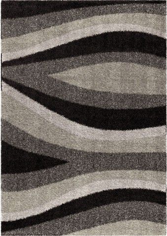 Orian Rugs Plush Waves Flume Black Area Small Rug