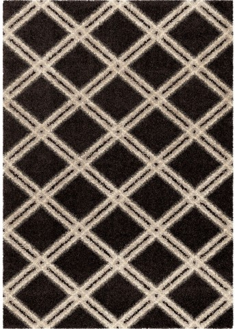 Orian Rugs Plush Diamonds Concentric Diamonds Black Area Large Rug