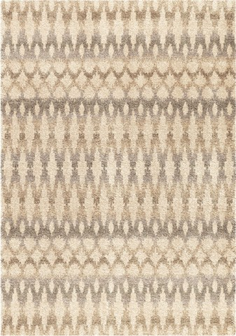Orian Rugs Plush Ikat Ikat Ombre Ivory Area Small Rug