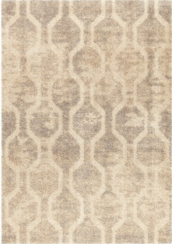 Orian Rugs Plush Hexagons Fence Line Ivory Area Large Rug