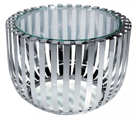 Roza Glass Top End Table